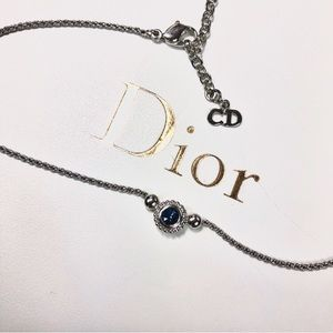 Dior Jewelry - 🌹Vtg Christian Dior Silver and Sapphire Necklace